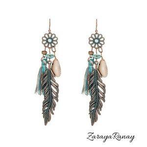 🥀Bohemian Tassel Hippie Feather Earrings